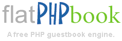 flatPHPbook. A free PHP guestbook engine.
